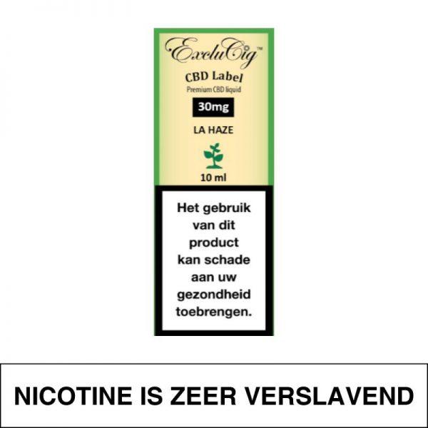 Exclucig Cbd Label E-Liquid La Haze 30Mg Cbd 10Ml