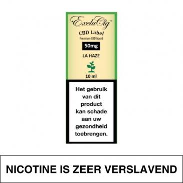 Exclucig Cbd Label E-Liquid La Haze 50Mg Cbd 10Ml