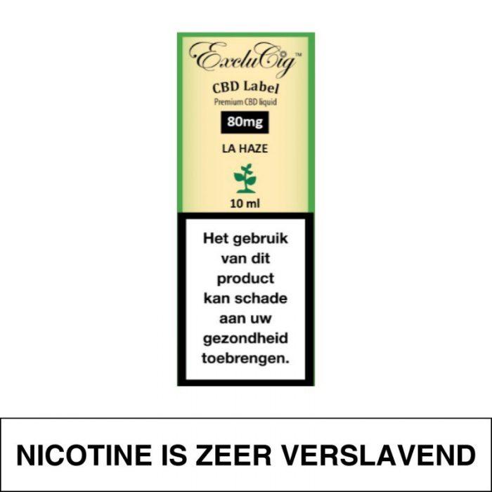 Exclucig Cbd Label E-Liquid La Haze 80Mg Cbd 10Ml