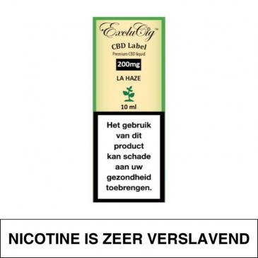 Exclucig Cbd Label E-Liquid La Haze 200Mg Cbd 10Ml