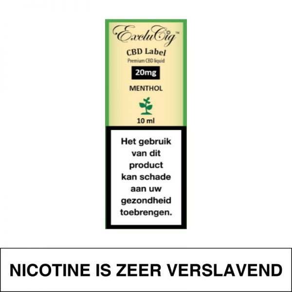 Exclucig Cbd Label E-Liquid Menthol 20Mg Cbd 10Ml