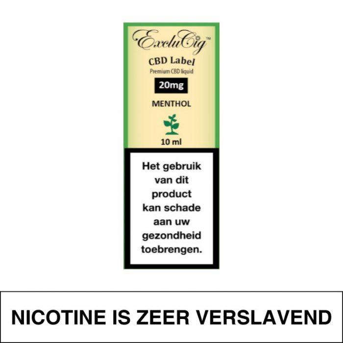 Exclucig Cbd Label E-Liquid Menthol 20Mg Cbd 10Ml