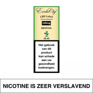 Exclucig Cbd Label E-Liquid Menthol 100Mg Cbd 10Ml