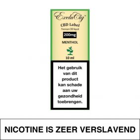 Exclucig Cbd Label E-Liquid Menthol 200Mg Cbd 10Ml