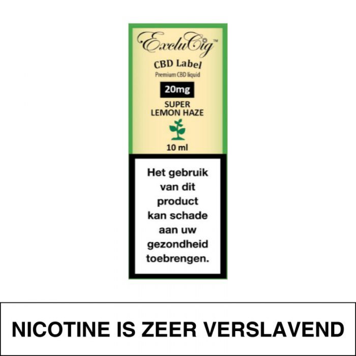 Exclucig Cbd Label E-Liquid Super Lemon Haze 20Mg Cbd 10Ml