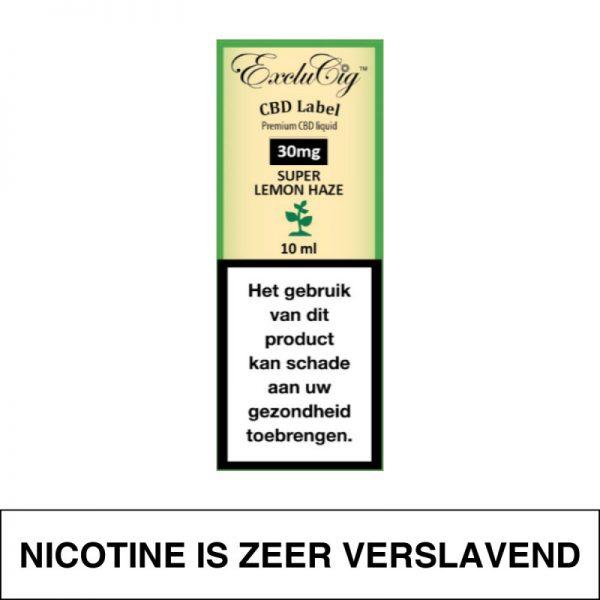 Exclucig Cbd Label E-Liquid Super Lemon Haze 30Mg Cbd 10Ml