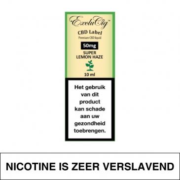 Exclucig Cbd Label E-Liquid Super Lemon Haze 50Mg Cbd 10Ml