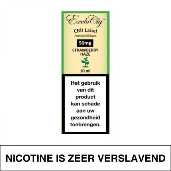 Exclucig Cbd Label E-Liquid Strawberry Haze 50Mg Cbd 10Ml