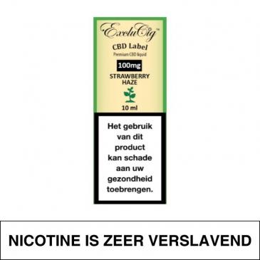 Exclucig Cbd Label E-Liquid Strawberry Haze 100Mg Cbd 10Ml