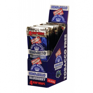 Display Hemparillo Hemp Blunts Blueberry 15X4 Pcs